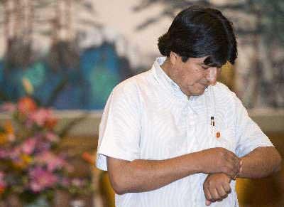 """玻利维亚新总统低调访华 寻天然气""""合作伙伴"""""""