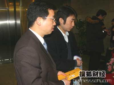 图:中国石油天然气集团公司 奥运合作伙伴办公室处长 葛庶签到
