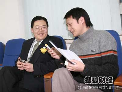 图:采访中国银行奥运办公室主任徐辰