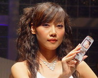 美女展示三星女人手机