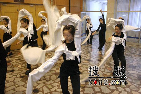 06年春晚 舞蹈节目的排练现场