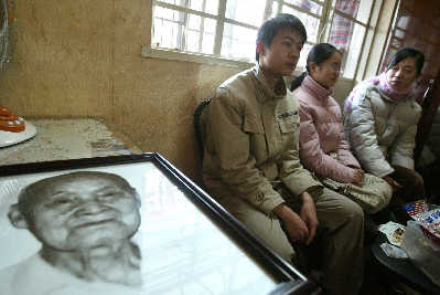 上海年龄最长的男性去世 曾希望活到116岁(图)