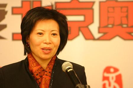 图文:北京奥运十大新闻评选揭晓 王惠女士致辞