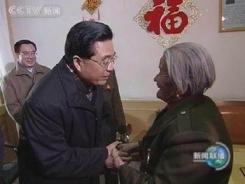 胡锦涛同延安老区人民迎新春 致以美好祝福(图)