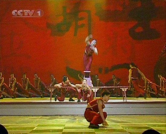 06春晚现场图-少儿武术表演