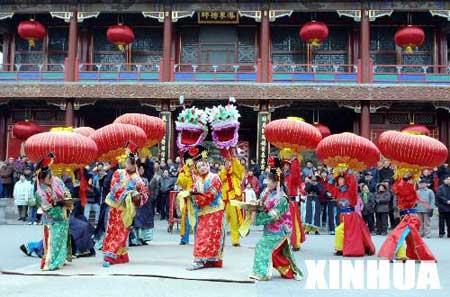组图:北京颐和园宫廷庙会迎新春