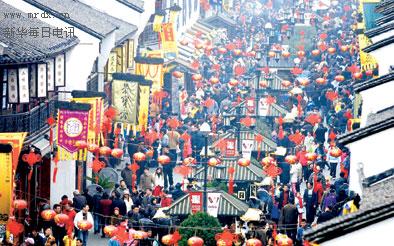 图文:杭州河坊街闹新春