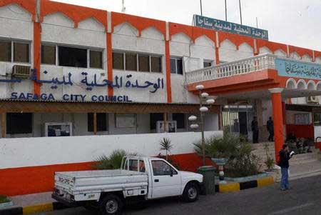 图:埃及客轮沉没 港口城市塞法杰市议会大楼