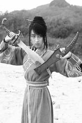 马苏《碧血剑》中舞刀弄枪
