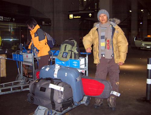 夏雨和他的单板行李