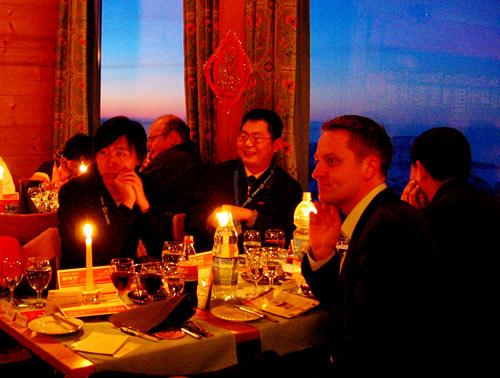 浪漫情调的烛光晚餐