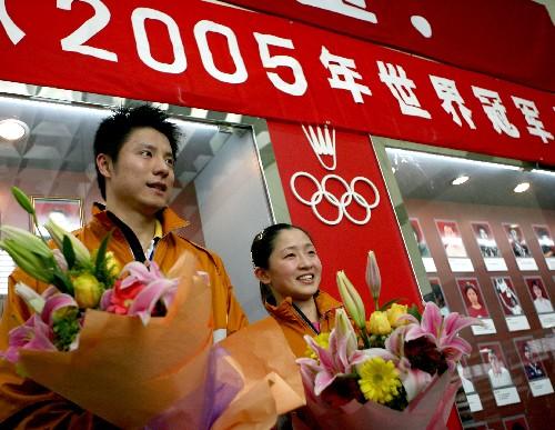 谢中博、张亚雯荣登羽毛球队世界冠军光荣榜