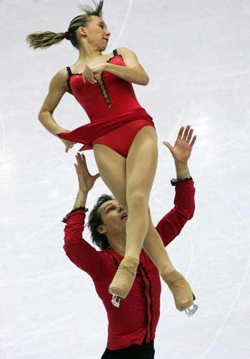 图文:冬奥花样滑冰比赛 乌兹别克斯坦选手