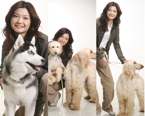 姜培琳为搜狗拍封面 家中有个动物园