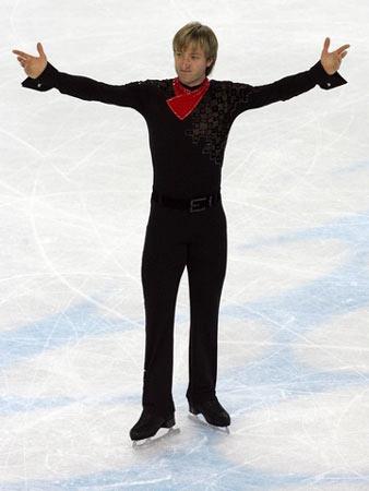 图文:花样滑冰男单自由滑 普鲁申科的完美演出