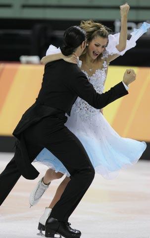 图文:冬奥会花样滑冰 美国选手拜宾和阿高茨