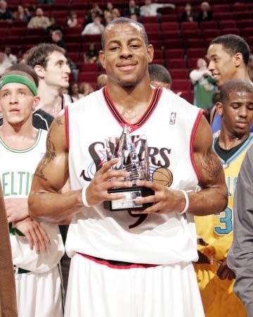 费城76人扣将获MVP毫无争议 比安东尼更胜一筹