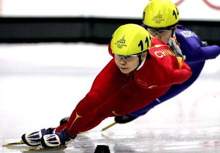 图文:冬奥短道女子1500米 王濛决赛中一度领先