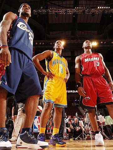 NBA图:全明星技巧挑战赛 三位参赛选手