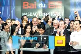 年度最受投资者追捧的海外IPO:百度纳斯达克上市