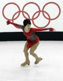 图文:花样滑冰女单自由滑 俄罗斯的斯鲁斯卡娅