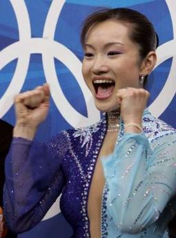 图文:冬奥花样滑冰女单自由滑 日本选手