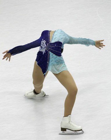 图文:花样滑冰女子单人滑 荒川静香的精彩表演