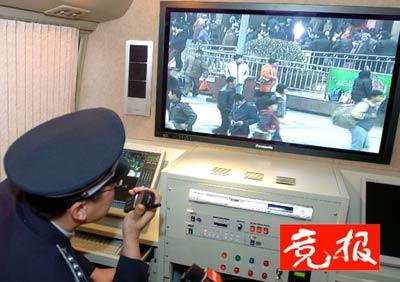 北京使用百万元监控车监控市民吐痰行为(组图)