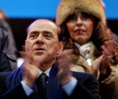 图文:冬奥闭幕式 意大利总理和夫人参加闭幕会