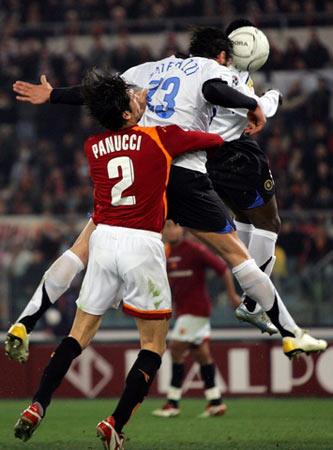图文:罗马vs国际米兰 马特拉奇打进扳平一球