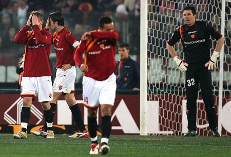 图文:意甲 罗马vs国际米兰 罗马众将错失机会