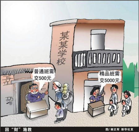 """图文:教育乱收费―因""""财""""施教"""