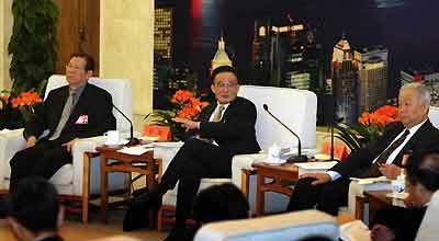 吴邦国参加香港代表团审议