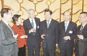 全国政协办公厅中共中央统战部举行招待会