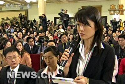 图文:日本共同社记者提问