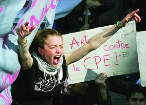 法国工会拟组织百万人游行抗议就业新政策(图)