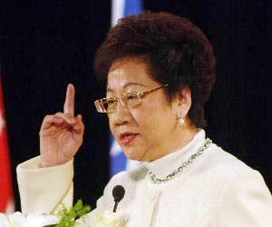 吕秀莲发表书面声明 高调要求重查319枪案(图)