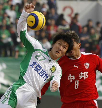 图文:北京现代负上海联城 周挺与堤亚哥争顶