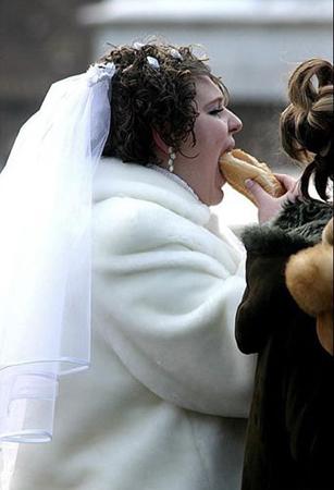 世界各地暴强婚礼照片(图)