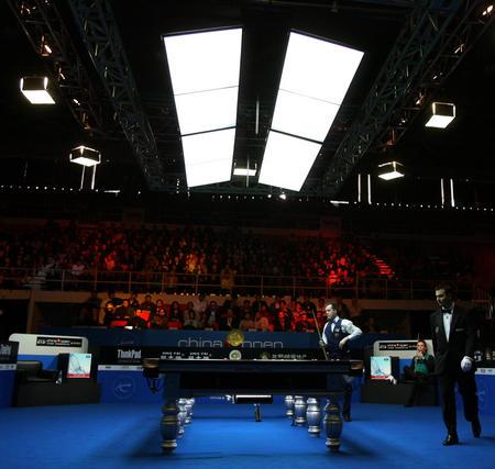 图文:中国公开赛半决赛 苏格兰选手希金斯