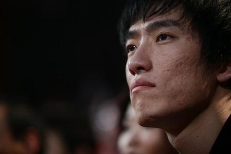 图文:CCTV体坛风云人物颁奖 刘翔在看台上