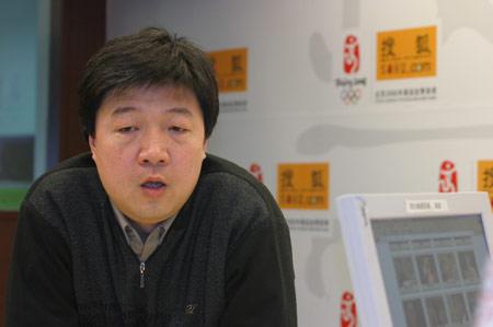 图文:CCTV体坛风云人物制片人张卫做客搜狐