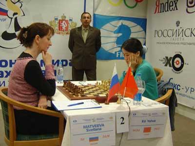 图文:女子国际象棋世锦赛 许昱华成功晋级决赛