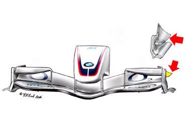 宝马索伯F1.06-前定风翼端板