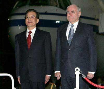 温家宝总理与霍华德总理今日举行正式会谈(图)