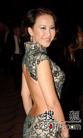 李玟出席香港国际电影节 大露背旗袍艳盖全场图片