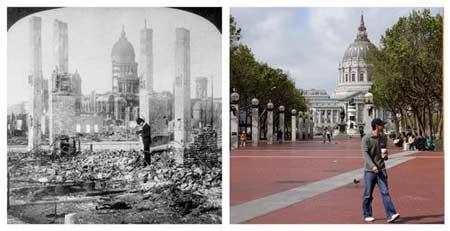 旧金山大地震100周年 城市建筑和风貌今昔对比