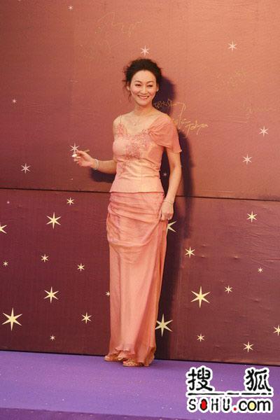 第25届金像奖:惠英红粉嫩裙装高贵典雅