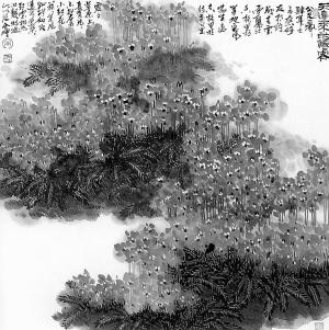 天边来的仙客(中国画)-朱全增花鸟画展作品选