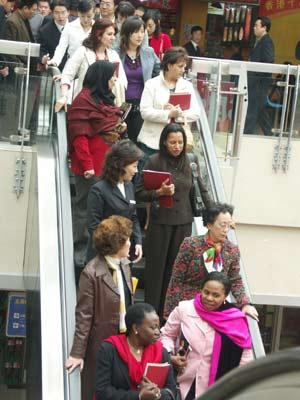 四十国大使夫人参观百荣世贸商城